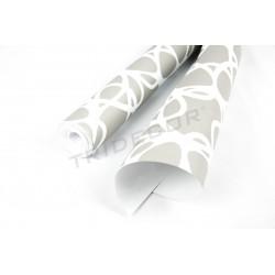 Le papier peint gris/blanc 10 m
