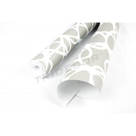 Paper pintat gris/blanc 10 m