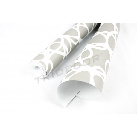 Wallpaper grey/white 10 m