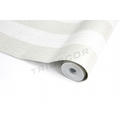 Papel de pared beige estampado rayas 10 metros