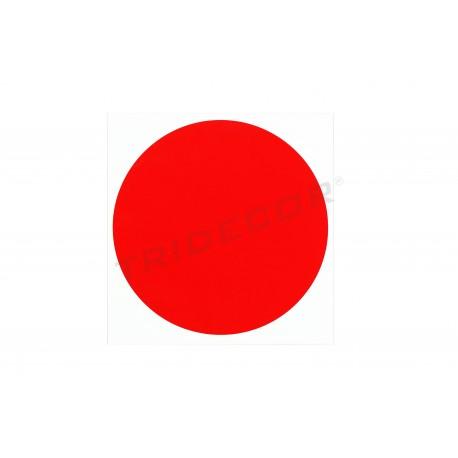 Etiqueta pegatina punto rojo 15x15cm