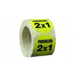 ADHESIU DE PROMOCIÓ 2X1 5X5 CM 500 PCS