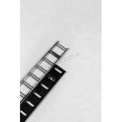 006087 Sistema cremallera para tiendas, ranurado horizontal 240 cm. Tridecor