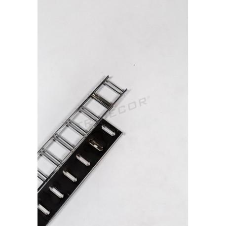 006087 Sistema rack per negozi, intaglio orizzontale 240 cm Tridecor