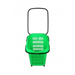 Shopping cart, green. 50 litres, tridecor