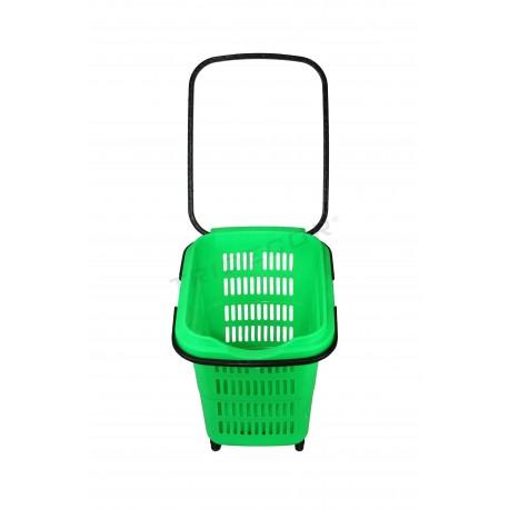 Shopping cart, green. 50 litres, tridecor