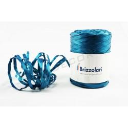 RIBBON OF RAFFIA FAUX METALLIC BLUE 200 MTS