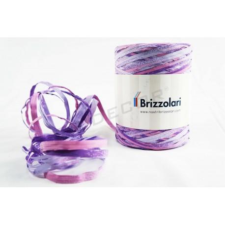 带纤维合成的双色红色紫色