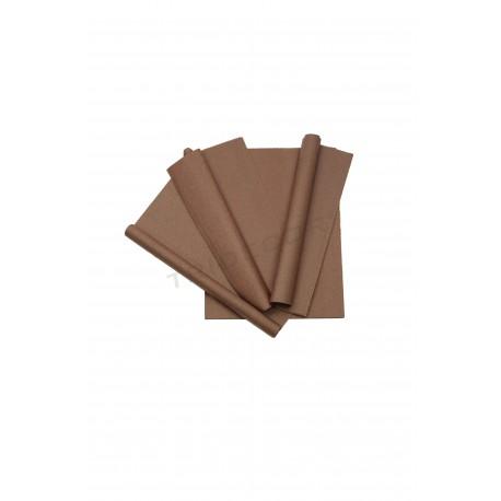 Papel de seda marrón 50x75cm 100 unidades