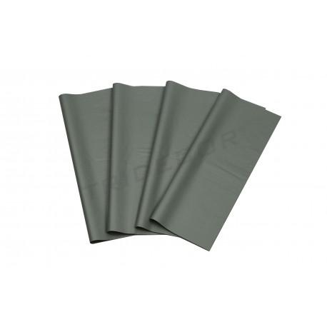 Papel de seda prata 86x62cm 100 unidades