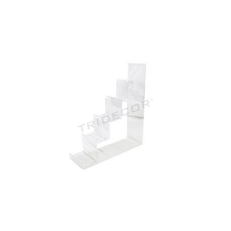 Expositor acrílico para monederos 5 alturas. Medida: 31x10x35 cm