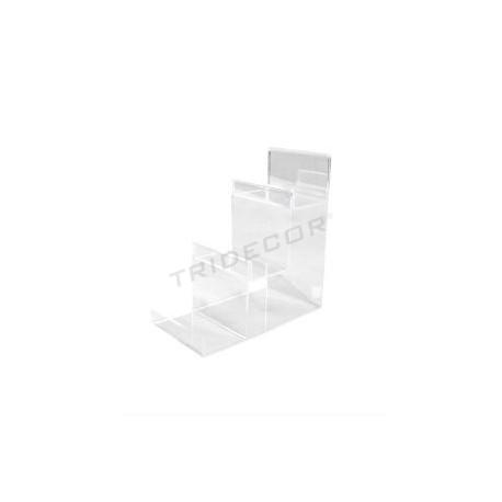 EXPOSITOR ACRÍLICO MONEDEROS 3 ALTURAS 21.5X10X20.5 CM