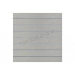 Panel de lámina, gris mate 7 guías 120x120 cm Tridecor