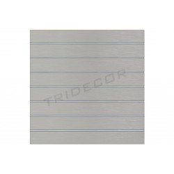 Pannello di lama, grigio opaco 7 guide 120x120 cm Tridecor