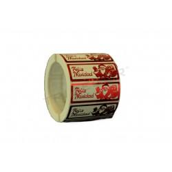 Adhesive label, Merry Christmas, cause santa Claus., tridecor