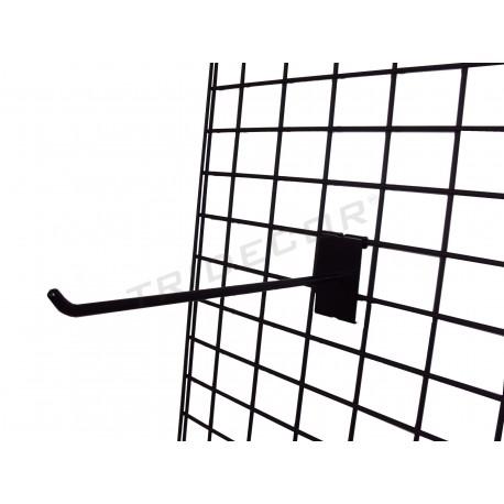 033065 Reja expositora negra doble margen 90x180 cm. Tridecor