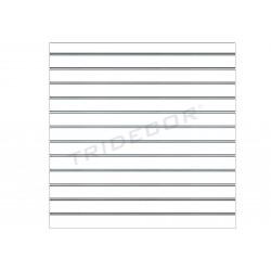 Panneau de lames, blanc mat, 12 guides 120x120 cm, tridecor