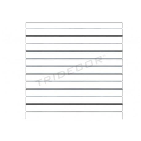 Pannello di lame, bianco opaco 12 guide 120x120 cm, tridecor