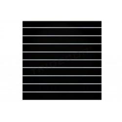 Painel de lamas preto brilho 9 guias 120x120 cm Tridecor