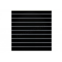 Pannello di lama nera lucida 9 guide 120x120 cm Tridecor