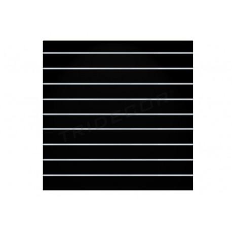 Panel de lamas negro brillo 9.5 guías 120x120 cm. Tridecor