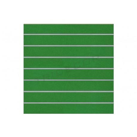 Panel de lamas verde 120x120 cm. Tridecor
