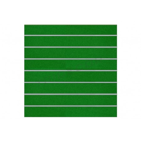 Panel de lamas verde brillo 120x120 cm. Tridecor