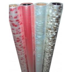 Rolo papel celofane transparente e estampa