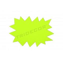 Cartel ofertas. Amarillo y naranja. Reversible. 24x16cm, tridecor