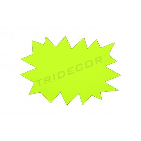 Cartel ofrece. Amarelo e laranxa. Reversible. 24x16cm, tridecor