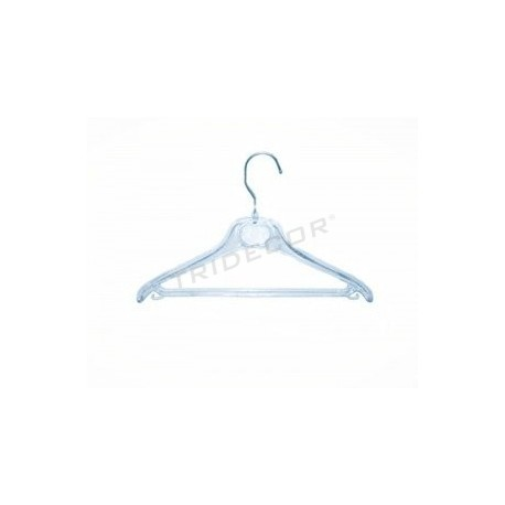 Hanger made of transparent plastic 41 cm