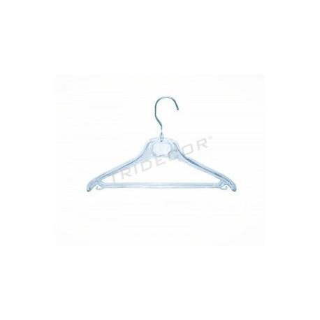 Percha de plástico transparente 41 cm