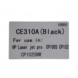 粉CE310A. 模型HP激光喷墨CP1005. 黑色的