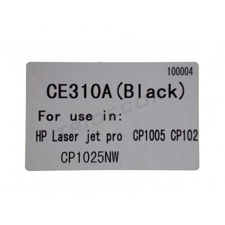 TONER CE310A. MODEL HP LASER JET CP1005. BLACK