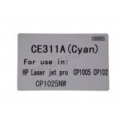 TONER CE311A. MODEL HP LASER JET PRO CP1005. CYAN