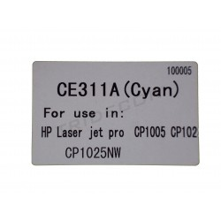 TONER CE311A. MODELO HP LASER JET PRO CP1005. CYAN