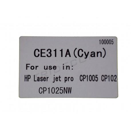 粉CE311A. 模型HP激光喷墨亲CP1005. 青色