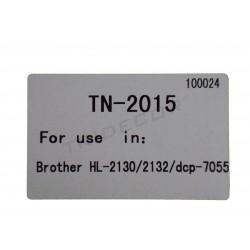 粉TN-2015年。 模型的兄弟HL-2130激光打印机。 黑色的