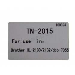TONER TN-2015. MODELO BROTHER HL-2130 LASER PRINTER. NEGRO