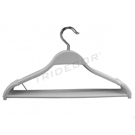 Coat hanger wood lacquered in white color