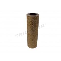 Papel de presente com estampa dourada 31cm