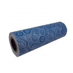 WRAPPING PAPER PATTERNED BLUE 31CM