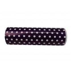 Paper gift purple patterned polka dot 31cm