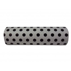 Gift wrapping paper in white, patterned black dots 31cm
