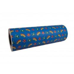 Embrulho de agasallo de papel de impresión azul neno 31cm