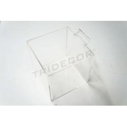 007145 Cub de metacrilat panell de lames. Tridecor