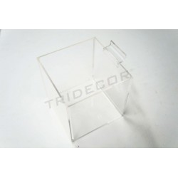 007145 Cubo metacrilato para panel de lamas. Tridecor
