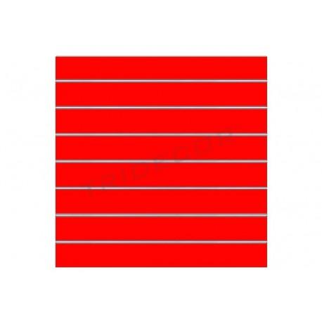 Panel de lamas rojo brillo 120x120 cm. Tridecor