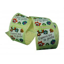 Etiqueta adesiva para presentes, Espero que gostem. 250 pçs. tridecor