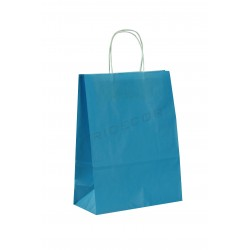 Bag of paper pulp with asa curly light blue 40x32x12cm-25 units